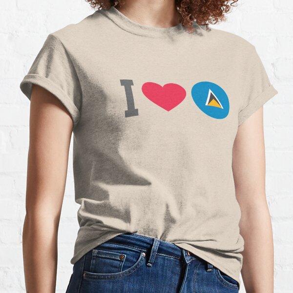 I Love Heart St Lucia Black Kids Sweatshirt