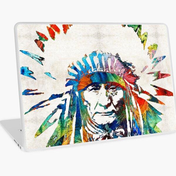 Native American Art - Chief - By Sharon Cummings Laptop Skin