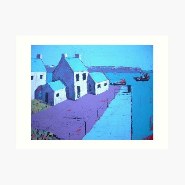 Little Harbour Acrylic Painting Art Print