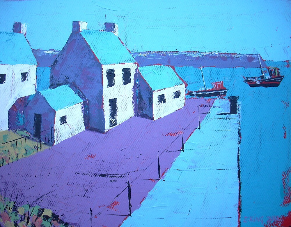 Little Harbour Acrylic Painting by Emily King