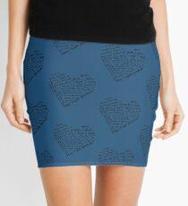 Quotes of the Heart - Steggy (Black) Mini Skirt