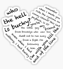 Quotes of the Heart - Stucky (Black) Sticker