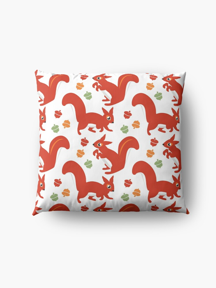 Alternate view of Red Squirrel Playground Floor Pillow