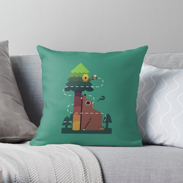 Bears and the Bees Throw Pillow