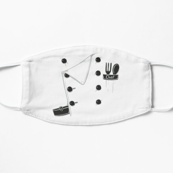 Chef costume, chef jacket Flat Mask