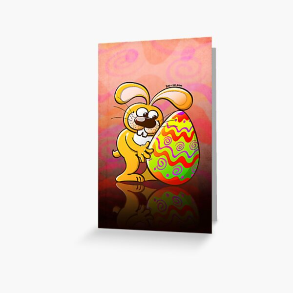Easter Bunny Falling in Love Greeting Card