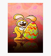 Easter Bunny Falling in Love Photographic Print