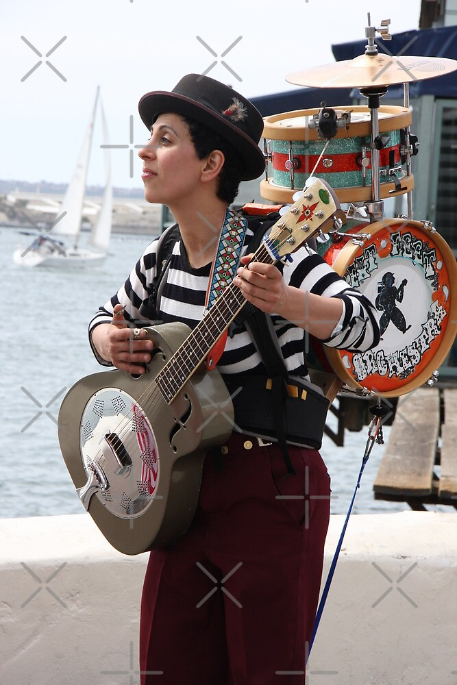 Busker At The Bay by Heather Friedman
