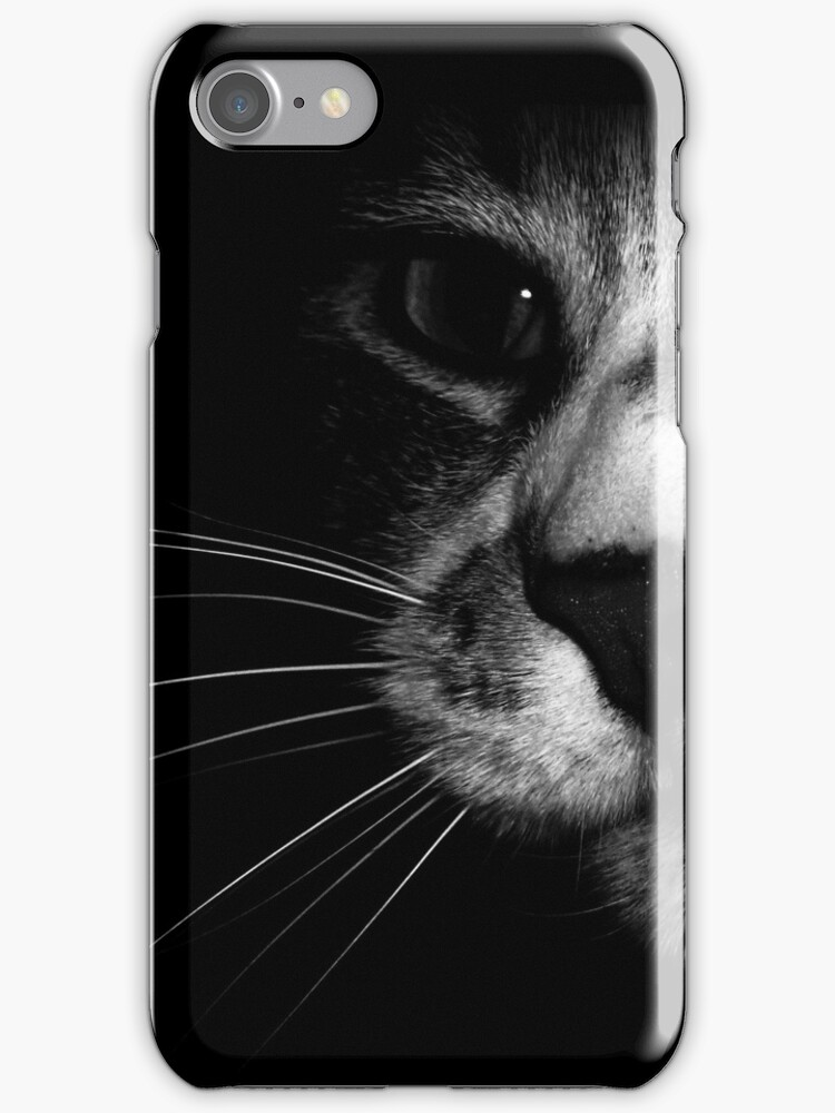 Cat Face iphone by Margaret Bryant