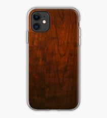 Mahogany Wood Texture  iPhone Case