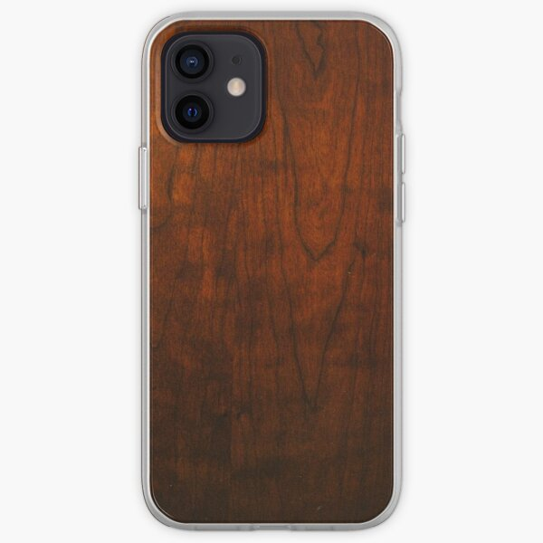 Mahogany Wood Texture  iPhone Soft Case