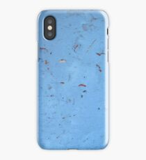 Chipped Blue Concrete Texture  iPhone Case/Skin