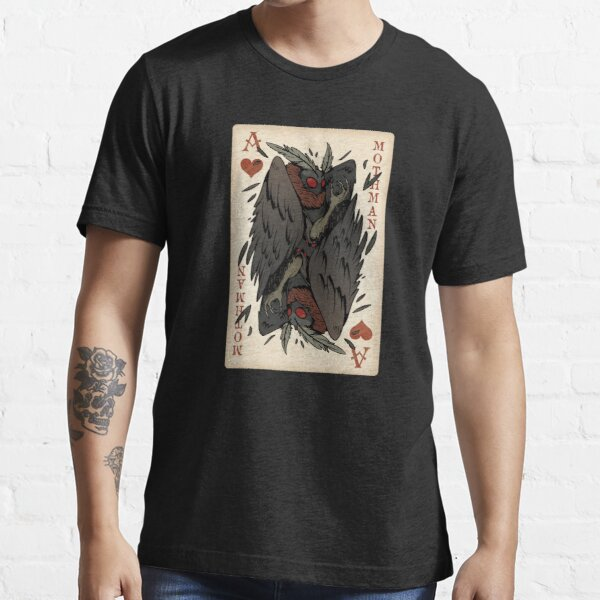 Mothman Playing Card - Vintage Ace of Hearts Cryptid Gift Essential T-Shirt