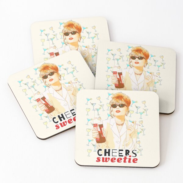 Cheers sweetie Patsy Stone absolutely fabulous  Coasters (Set of 4)