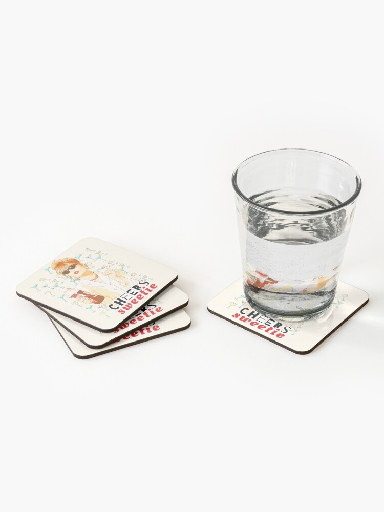 Alternate view of Cheers sweetie Patsy Stone absolutely fabulous  Coasters (Set of 4)