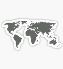 Gray World Map Sticker