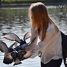 Bird Girl At Exeter Quays, Exeter , Devon by lynn carter