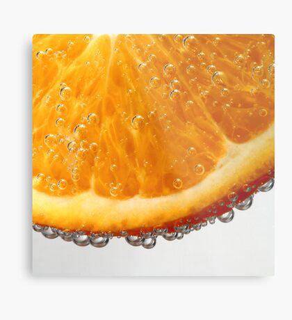 Orange in bubbles Metal Print