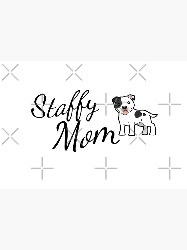 Staffy Mom, Staffordshire Bull Terrier by tribbledesign