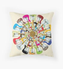 I Love Electric Guitars Throw Pillow