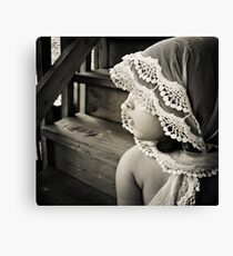 her shawl Canvas Print