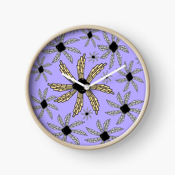Orchid, lavender,purple spiral wind catcher pattern Clock