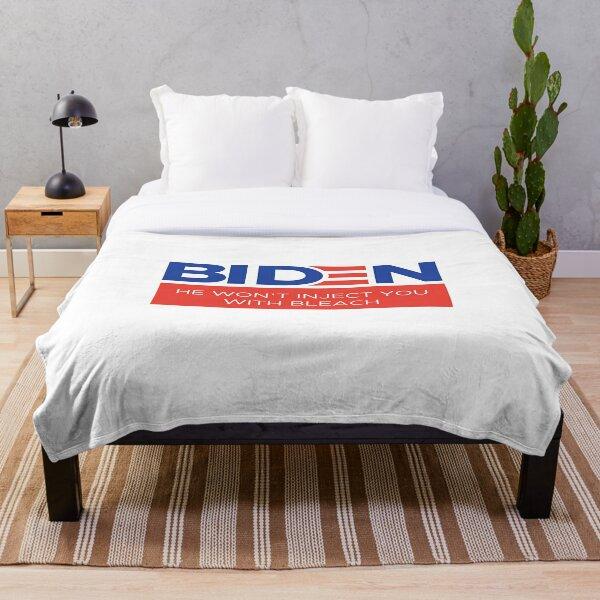 Joe Biden Anti Trump Anti-Trump Inject Disinfectant Bleach Injection  Throw Blanket