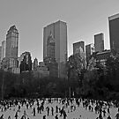 Ice Skating at Central Park, Manhattan by JMChown