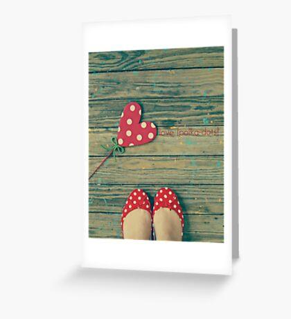 love. [polka-dots] Greeting Card