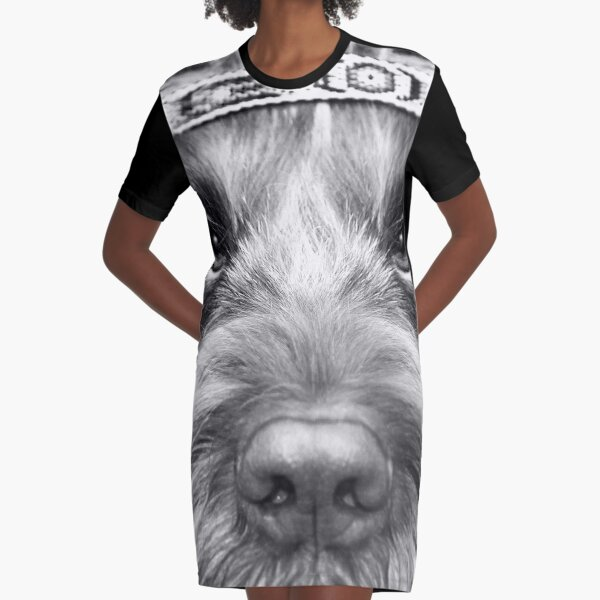 Look into my eyes Spinone Graphic T-Shirt Dress