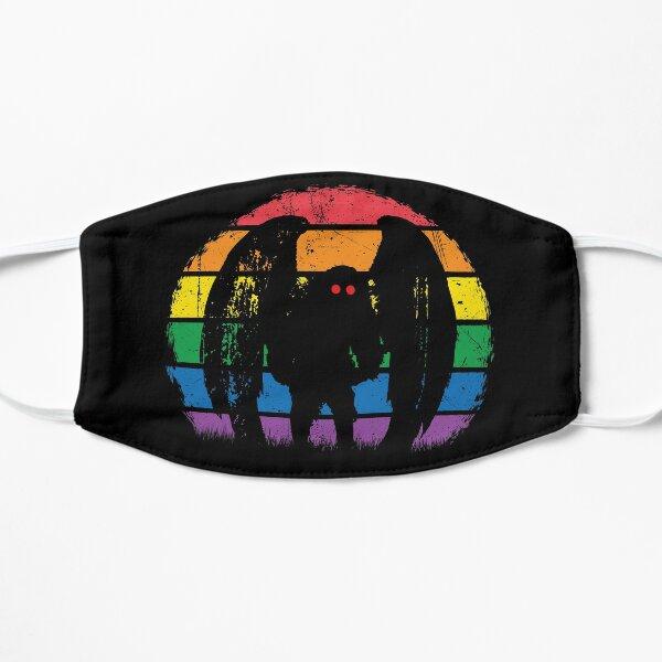 Mothman - Retro Vintage Rainbow Cryptid Gift Flat Mask