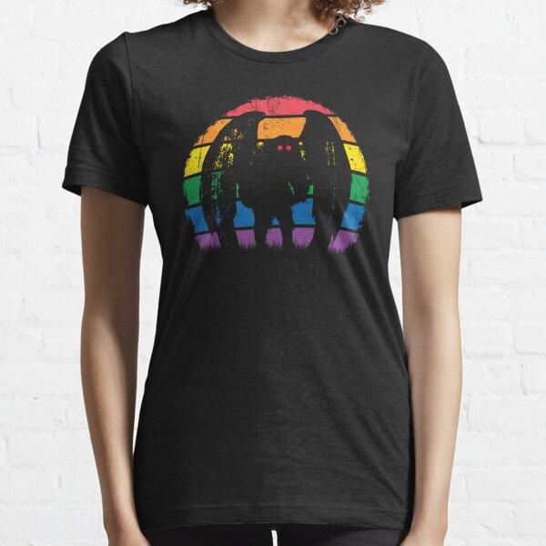 Mothman - Retro Vintage Rainbow Cryptid Gift Essential T-Shirt
