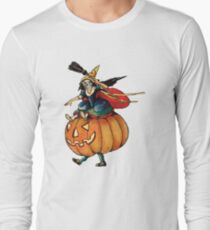 Queen Reaper (Vintage Halloween Card) Long Sleeve T-Shirt