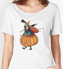 Queen Reaper (Vintage Halloween Card) Women's Relaxed Fit T-Shirt