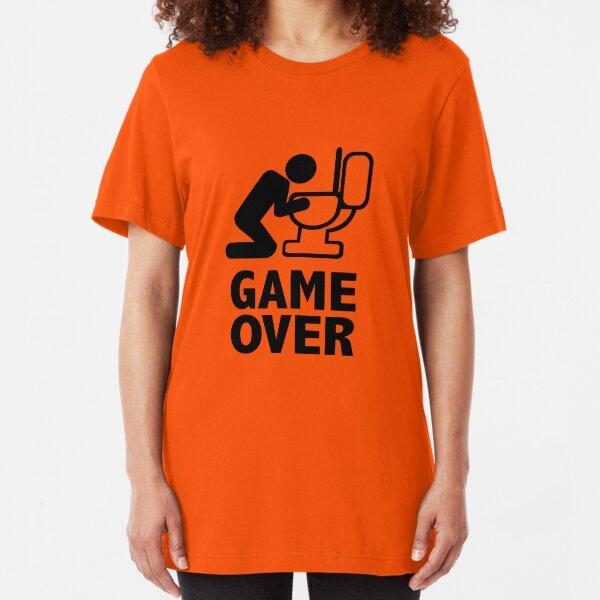 Game over puke toilet Slim Fit T-Shirt