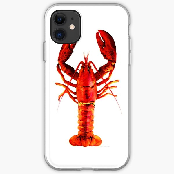 Red Lobster - Full Body Seafood Art iPhone Soft Case