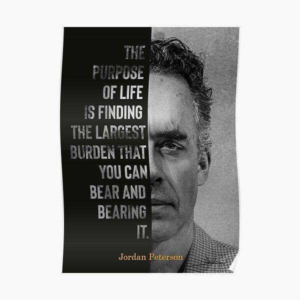 Jordan Peterson's Purpose Of Life Canvas Poster