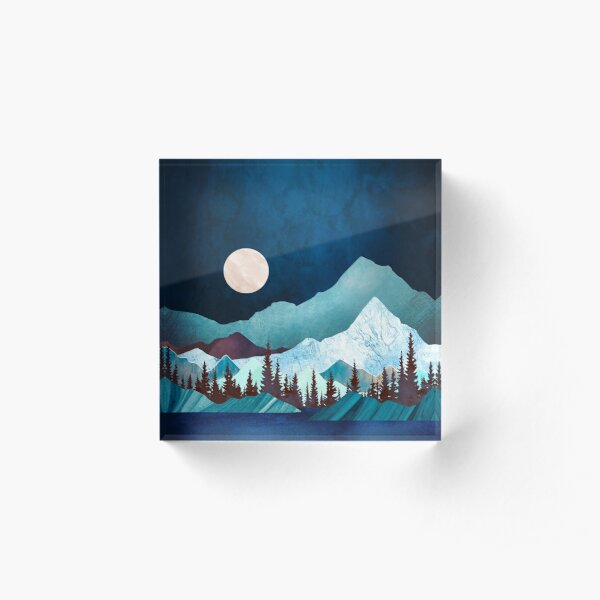 Moon Bay Acrylic Block