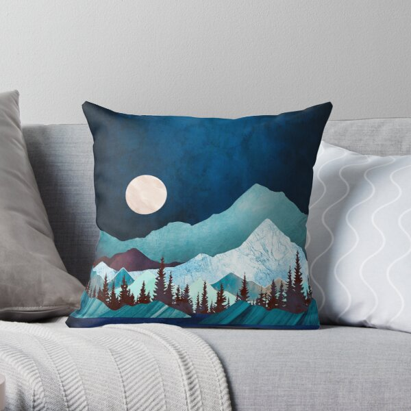 Moon Bay Throw Pillow