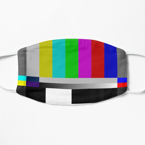 SMPTE Standard Definition Television Color Bars Slim Fit Mask