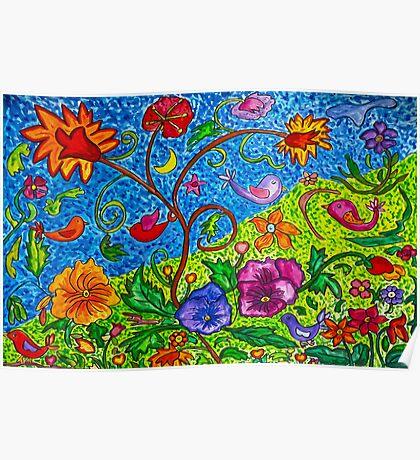 Dancing Florals Poster