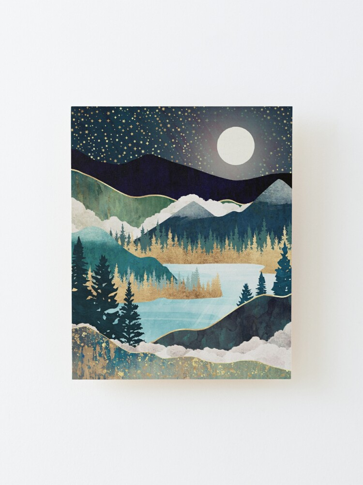 Alternate view of Star Lake Mounted Print