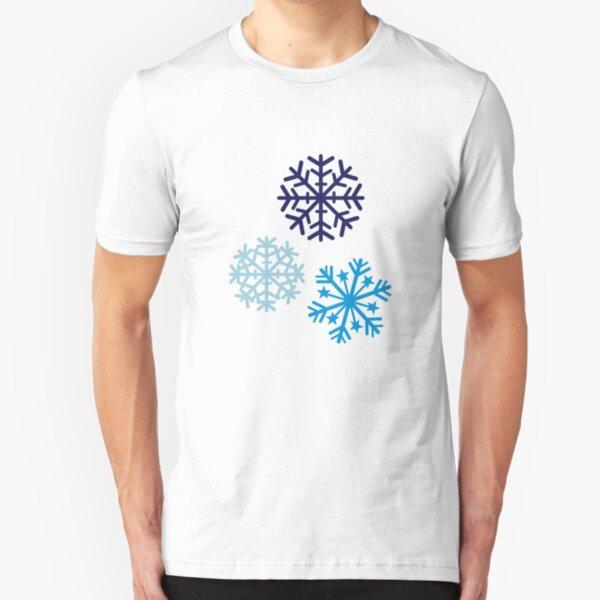 Snowflakes Slim Fit T-Shirt