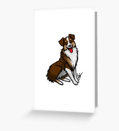 Australian Shepherd - Tri Color Greeting Card