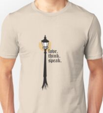 Love. Think. Speak Unisex T-Shirt