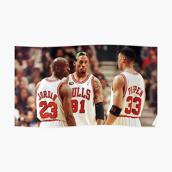 Jordan, Pippen and Rodman Poster