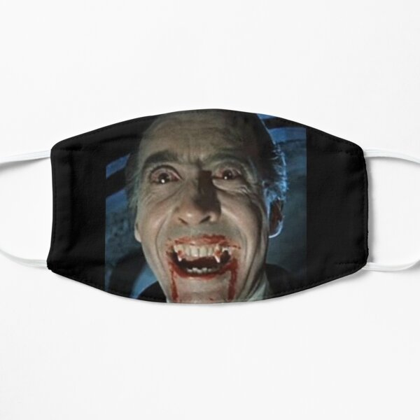 VAMPIRE. DRACULA. Christopher Lee as the title character in Dracula.1958. Flat Mask