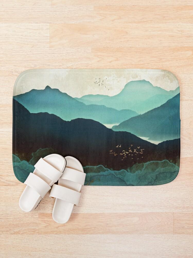 Alternate view of Indigo Mountains Bath Mat