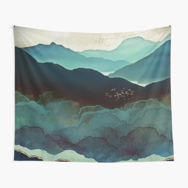 Indigo Mountains Tapestry