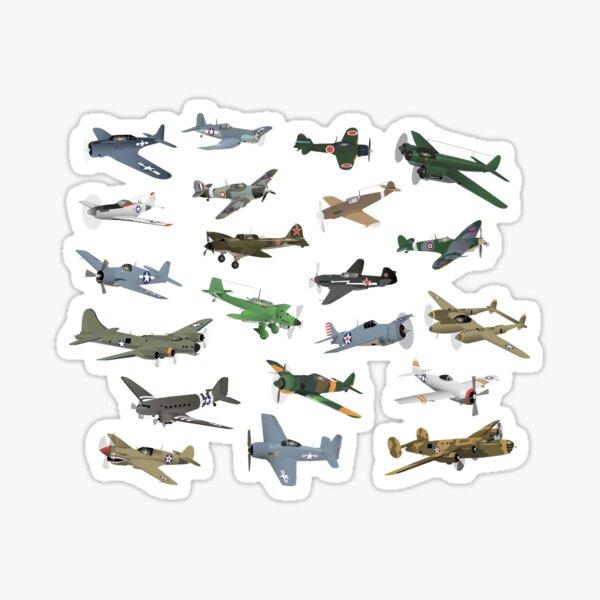 Various WW2 Airplanes Sticker
